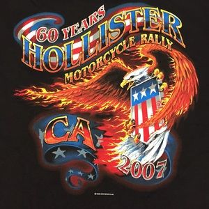 Other - 2007 60 Years Hollister Motorcycle Rally Shirt